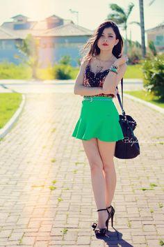 Blog da Lê: No look verde e animal print