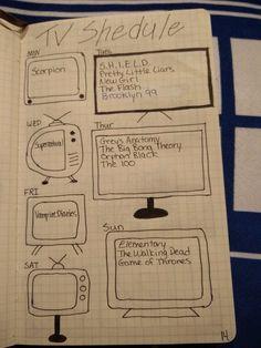 Bullet journal - tv shows Bullet Journal Printables, Bullet Journal Layout, Bullet Journal Inspiration, Bullet Journals, Journal Prompts, Journal Ideas, Planner Doodles, Planner Organization, Organizing