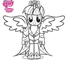 My Little Pony Twilight Para Colorear