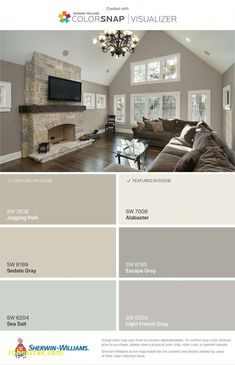 sedate gray, alabaster & sea salt Love the light French grey Interior Paint Colors, Paint Colors For Home, House Colors, Entry Paint Colors, Wall Colors, Griege Paint Colors, Lowes Paint Colors, Neutral Paint, Grey Paint