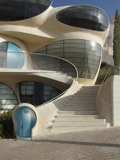 Here is another new futuristic free-shaped structure by Architect Ephraim-Henry Pavie, Biomorphic House. Hand made green house, soft and sensitive biomorphic architecture for a magical environment. T