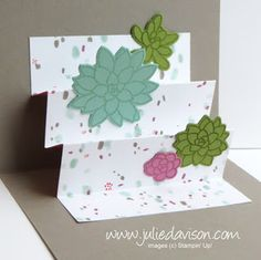 VIDEO Tutorial: Designer Paper Accordion Pop-Up Card with Stampin' Up! Oh So Succulent ~ www.juliedavison.com ~ 2017 Occasions Catalog