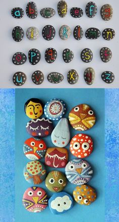 ♥ stenen verven Native American Crafts, American Indians, Diy For Kids, Crafts For Kids, Art In The Park, Diy And Crafts, Arts And Crafts, Stone Crafts, Le Far West