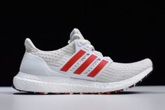 aa8102f6d0af4 New adidas Ultra Boost 4.0 Cloud White Active Red-Footwear White DB3199