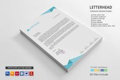 LETTERHEAD TEMPLATE A simple unique letterhead for all kind of business and personal purpose usages. This file is easy to edit, modify and customize able. Stationery Templates, Stationery Design, Design Templates, Letterhead Design, Business Brochure, Business Card Logo, Professional Letterhead Template, Free Typeface, Site Website