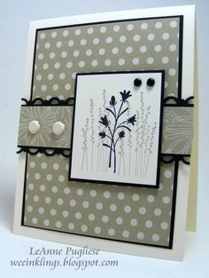 Pocket Silhouettes in Neutrals by LeAnne Pugliese - Cards and Paper Crafts at Splitcoaststampers