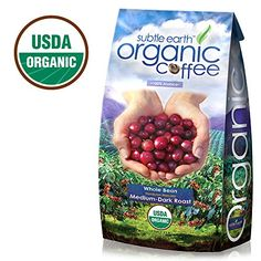 Cafe Don Pablo Subtle Earth Organic Gourmet Coffee - Medium-Dark Roast - Whole Bean Coffee - USDA Certified Organic - Arabica, 5 Pound *** Remarkable product available now.: at Coffee Beans. Best Organic Coffee, Organic Coffee Beans, Community Coffee, Cherry Fruit, Dark Roast, Vintage Coffee, Coffee Roasting, Natural Flavors, Healthy Drinks