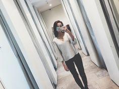 #mango #look #white #mirror