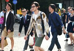 Tommy Ton's Street Style: Pitti Uomo: Style: GQ. The Japanese contingent hitting all the trends. perfectly.