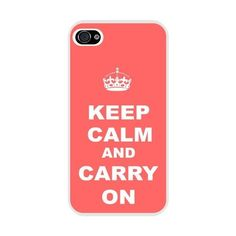 Rikki Knight Keep Calm And Carry On - Tropical Pink Color Iphone Case... (64 PEN) ❤ liked on Polyvore featuring accessories, tech accessories, phone cases, apple iphone case, pink iphone case, iphone cover case, iphone sleeve case and iphone cases