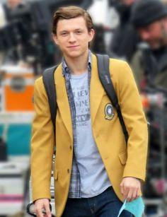 Tom Holland Yellow Coat