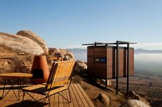 compact eco-casita at Hotel Endemico,  Valle de Guadalupe (Baja's wine country) by Tijuana architect Jorge Gracia