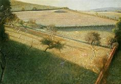 1955 Great landscape with trees (The triangular field) - Balthus