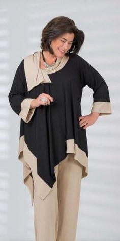 Looks de Inverno para mulheres 50 e plus size - Viva 50 por Maria Celia e Virginia Pinheiro 50 Fashion, Fashion Over, Curvy Fashion, Look Fashion, Plus Size Fashion, Girl Fashion, Fashion Outfits, Womens Fashion, Fashion Trends