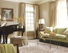 piano room design by christopher maya - round ottoman under piano Piano Living Rooms, Piano Room, Formal Living Rooms, My Living Room, Home And Living, Living Spaces, Dining Room, Interior Design Pictures, Room Interior Design