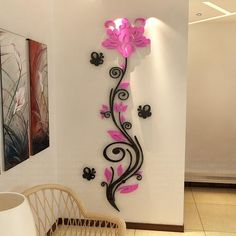 New Acrylic Crystal sticker stereoscopic rose flower wall stickers Europe Home decor TV backdrop entrance hallway sofa decals Vine Wall, Wall Stickers Home Decor, 3d Wall, Wall Art, Flower Wall, Wall Flowers, Flower Decorations, Wall Decorations, Wall Design