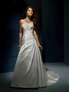 Astrid-Vestido de Noiva em cetim - dresseshop.pt