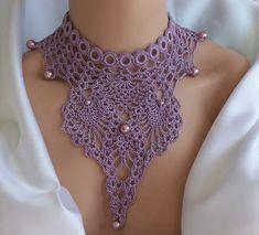 """""""Lovely Violet Necklace"""" by DAINTYCROCHETBYALY."""