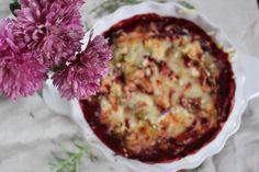 Leckeres Rote Beete - Kartoffelauflauf Rezept. Perfekt für die Herbstzeit.
