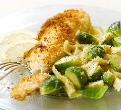Looking for a Panko-Crusted Tilapia and Bow Ties recipe? Get great family cooking recipes for kids and adults. Recipes for Panko-Crusted Tilapia and Bow Ties are great to make with the whole family. Tilapia Recipes, Fish Recipes, Seafood Recipes, Healthy Recipes, Recipies, Healthy Options, Crusted Tilapia, Baked Tilapia, Healthy Family Dinners