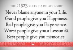Never blame anyone. Lessons Learned, Life Lessons, Great Quotes, Me Quotes, Inspirational Text, Your Word, Blame, Good People, Relationship Quotes