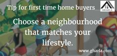 Tip of the day for first time home buyer