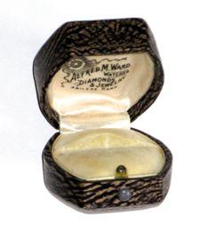 Vintage deco era ring box push button display box Kansas jewelry store by sweetalicelovesyou on Etsy