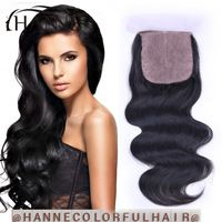 $51.19Indian Hair Lace Closure top quality Silk Base Closure Indian virgin Hair Body Wave Lace Closure Free/Middle/3 Part Closure