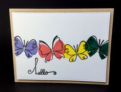 Hello Card Butterfly's Kraft Cardstock by BeautifullyMadeCards
