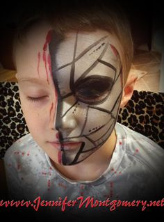 Face Painting for a Kids Birthday Party by Jennifer Montgomery of CrazyFaces Face Painting Philadelphia PA
