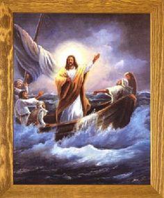 Jesus Christ Calming the Sea Femrite Religious and Spiritual Art Print Poster & 112 best Religious Framed Art Pictures images on Pinterest   Framed ...