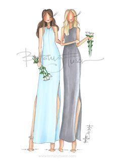 Brittany Fuson // custom bridesmaids