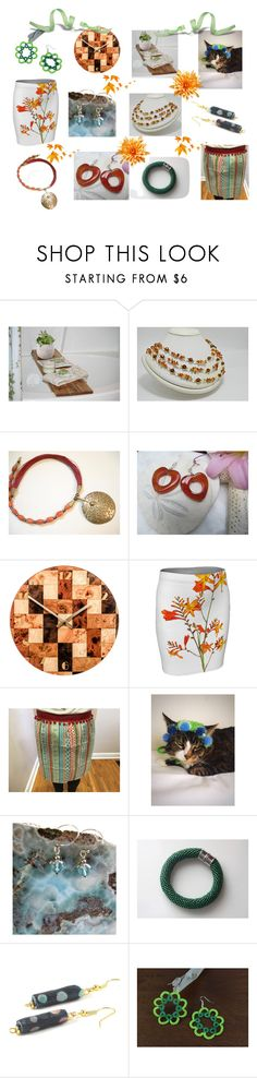 """Handmade Gifts to Enjoy"" by cozeequilts ❤ liked on Polyvore featuring rustic"