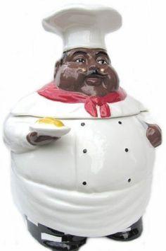 "Black Americana Chef Cookie Jar Casa Vero Hand Painted RARE 8""x 5 | eBay"