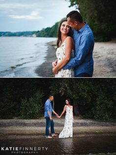 Beach Engagement Session at Durand Eastman Beach in Rochester, NY photographed by Katie Finnerty Photography | http://www.katiefinnertyphotography.com/blog/2016.9.8.rochester-beach-engagement-session-jordan-travis