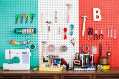 Color Blocked Pegboards (love!)