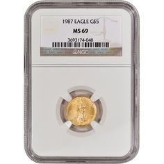 1987 American Gold Eagle 1/10 oz $5 - Certified NGC MS69