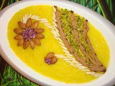 shole zard -- Persian rice pudding (no recipe)