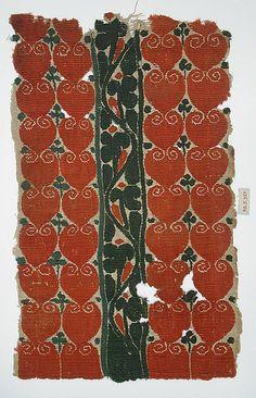 Coptic textile fragment, Egypt, 45h-5th c.