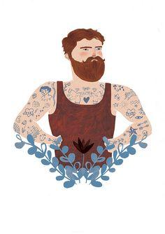 Tattooed Gent by Lizzy Stewart, via Flickr