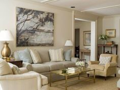 Benjamin Moore Monroe Bisque - another good neutral for a north-facing room to add light and warmth