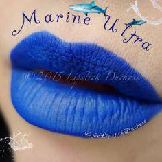 Marine Ultra Lips ~ Mac Chromagraphic Dark Red Lips, Blue Lipstick, Lip Swatches, Lip Art, Dupes, Lip Gloss, Makeup, Mac Lipsticks, Instagram Posts