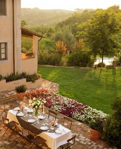 Villa Fagnana, Tuscany,  Love this view after a day of travel,  I could call this home