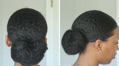 My Sleek Low Bun Tutorial On Natural Hair