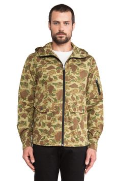 Penfield Braybrooke Hooded Zip Overshirt in Duck Camo