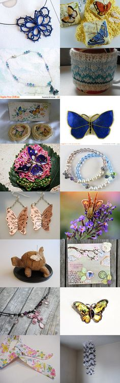 Blue Butterfly by Nancy on Etsy--Pinned+with+TreasuryPin.com