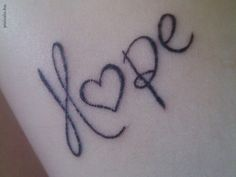 Hope tattoo. Beautiful font. - Love this but already got my name on me... :(