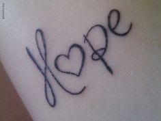 Hope tattoo