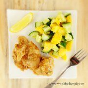 Quick and easy Satay Chicken. Free from gluten, grains, dairy, egg and refined sugar. Enjoy.