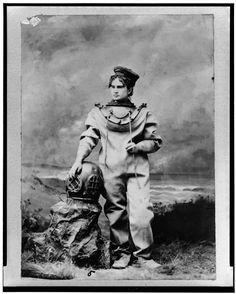 """Sarah Bernhardt as """"The Ocean Empress,"""" 1888"""